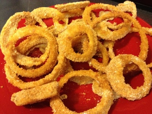 Skinny onion rings.