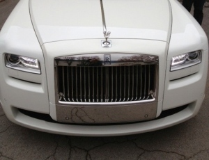 Rough ride in the Rolls Royce...