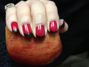 An apple a day keeps your mani at bay. Right?