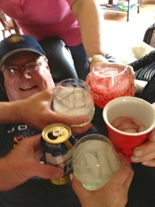 Day drinking success! Acted like we were at an all day tailgate.