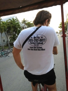 In case you need a bike taxi while in Key West, call this number and request the Serbian