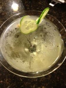 Cucumber martini...