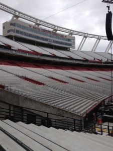 Williams Brice Stadium cold bleachers awaiting rear ends.