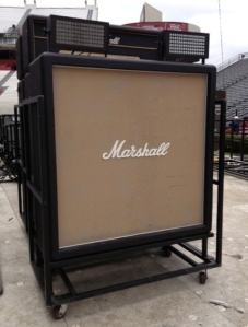I wondered if Ted would mind this Marshall stack in our mini manse?