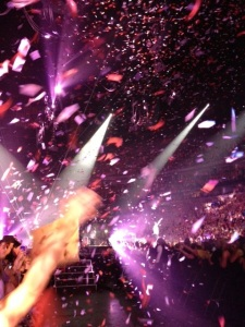 This is what happened when gay lips hit mine. Isn't that just like a gay man to be considerate, thoughtful and bake sure confetti drops from the sky while kissing a needy fan?!