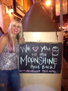 Keeping with the Moonshine Jungle theme, tried the moonshine bar but packed