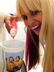 Don't tell Carrie Underwood that I was in a bathroom stall with her husband (even if he was only on a cup)