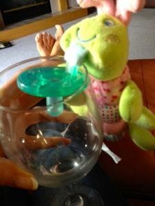 Binki wine charm