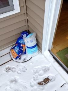 Extra freezer. The outdoors.