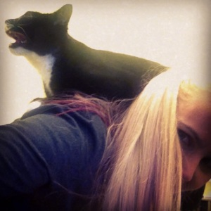 Replaced monkey on my back with cat, naturally.