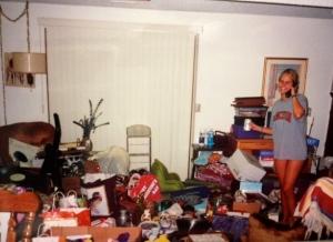 """""""Packing"""" the night before I left for Nashville."""