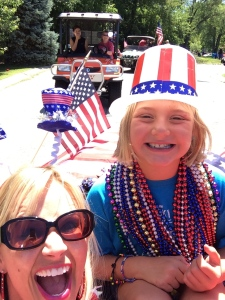 Selfie 1,487 during a 10 street block parade. I have mad skills.