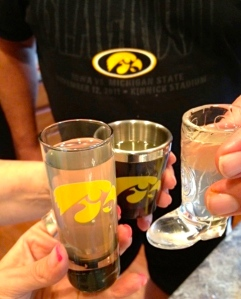 Moonshine shots with every seven points scored.