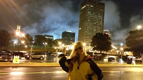 Nightime Nashville sky.