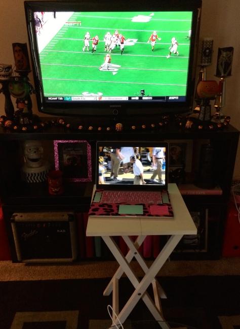 Just like a sports bar. Multi-screen