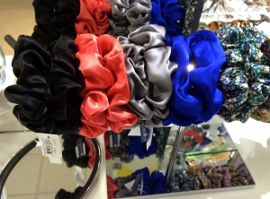 Search to replace. Nordstrom FAIL. FAIL. FAIL! Especially with silk scrunchies. Old people lunch tables in nursing homes is hte only place this is acceptable.