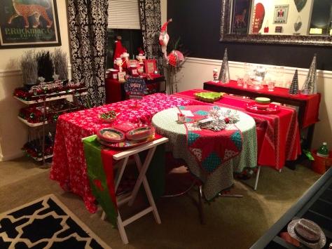 Mismatched tablecloths