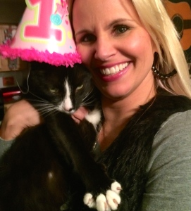 Celebrating New Cat not being new anymore.