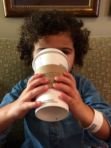Starting them young on Starbucks.
