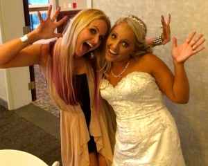 Even brides love jazz hands.