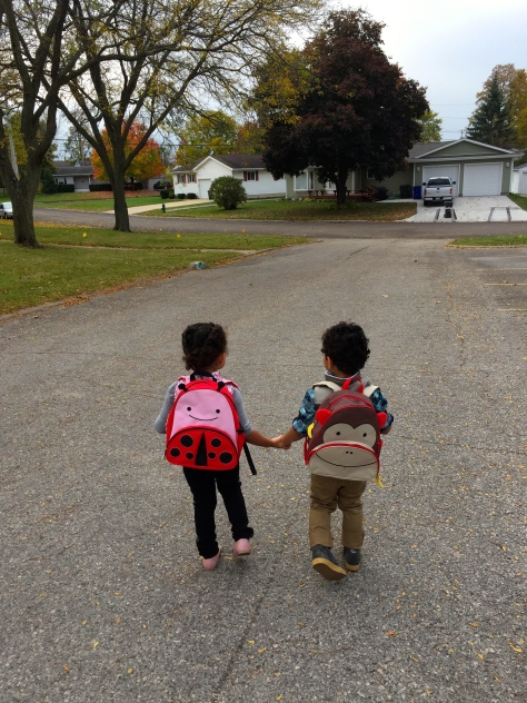 Preschool visit. Sniff.....sniff...