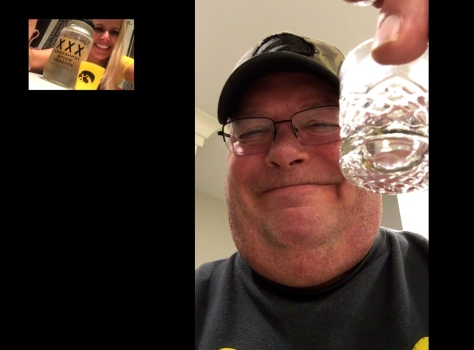 Touchdown shots even though we're 600 miles apart!