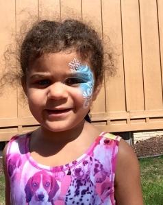 My fave princess with Princess Elsa face paint.