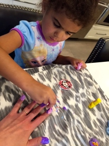 Princess B has mastered the Mother;s Day mani.