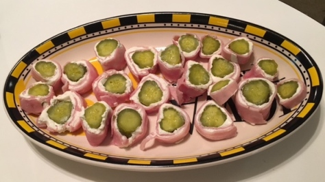 I even made my blogfamous Pigskin Sushi.
