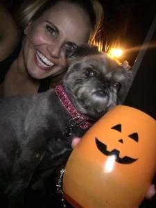 My punkin with a full pumpkin.