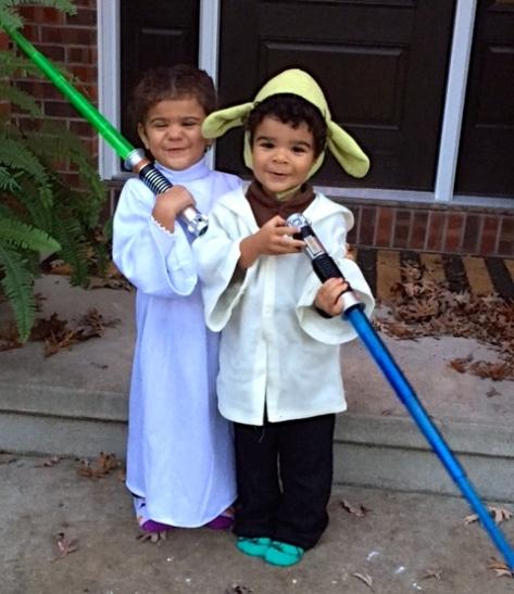 Princess Leah and Yoda