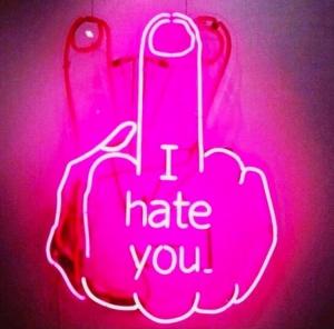 Like really, really, really, really hate you.